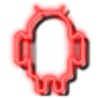 Neon Red GO Launcher Theme icon