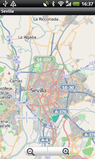 Sevilla Street Map