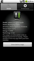 Screenshot of Battery Watcher Widget