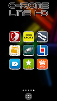 Screenshot of Chrome Line Lite - Icon Pack