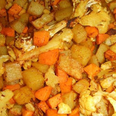 Spicy Potatoes & Cauliflower