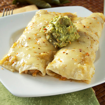 Chicken Spinach Enchiladas Verde