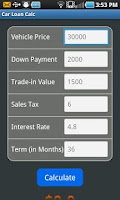 Screenshot of Car Loan Calc