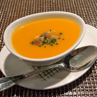 Pumpkin Soup with Creole Lobster