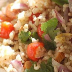 Brown Rice, Tomato and Basil Salad