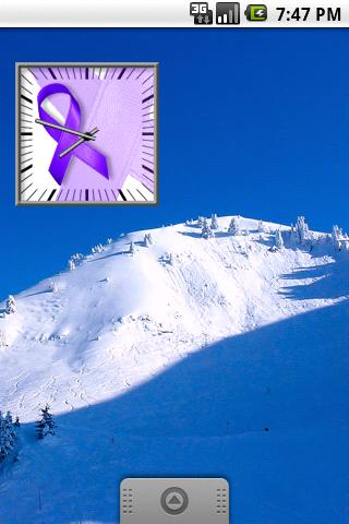 Purple Awareness Ribbon Clock