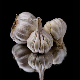 Still Life with Garlic by Rakesh Syal - Artistic Objects Still Life