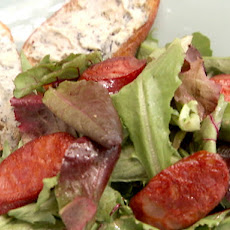 Bolo Salad with Chorizo, Cabrales Blue Cheese, and Tomatoes