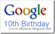 Google Celebrates Its 10th Birthday !!!