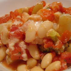 Baked Vegetables With White Beans