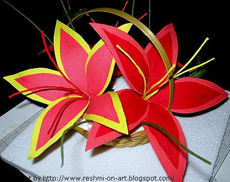 Duplex Paper-Lilly Flowers