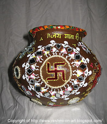 Navratri-Matka-Decoration