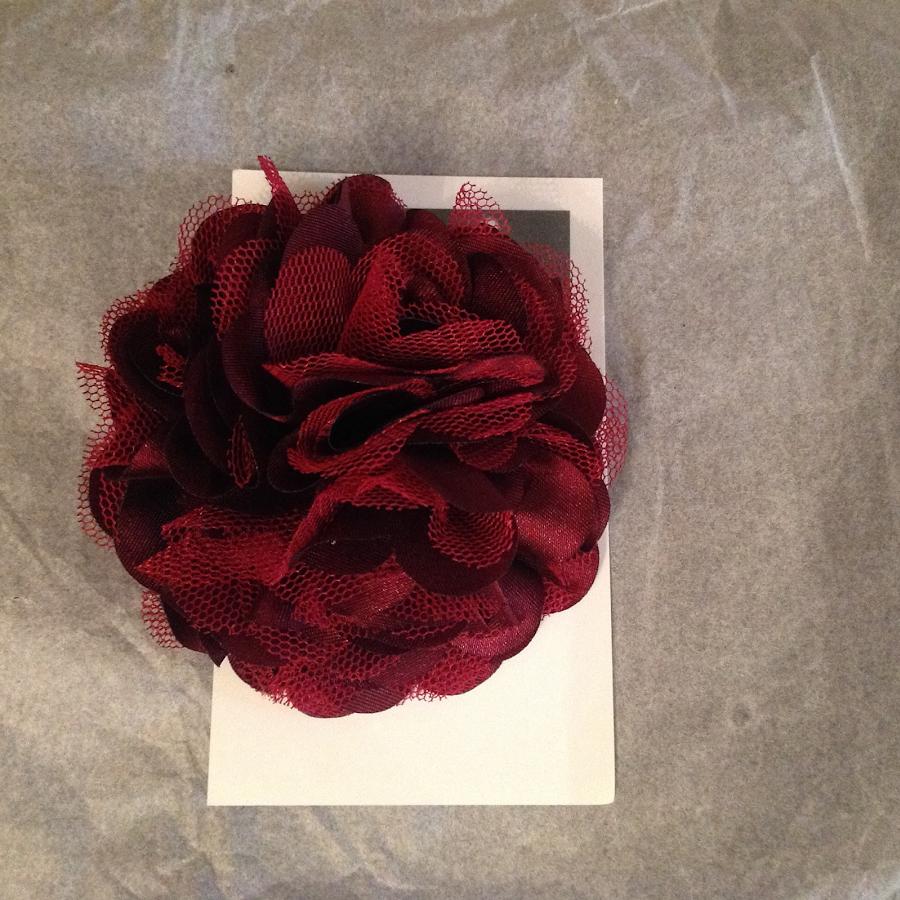 Silk flower in burgundy