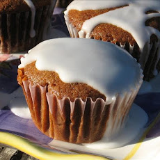 Gingerbread Muffins with Lemon Glaze