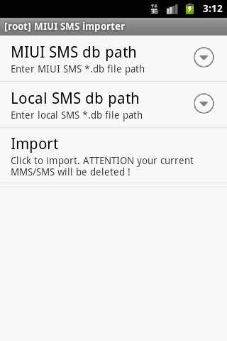 [root] MIUI SMS Importer