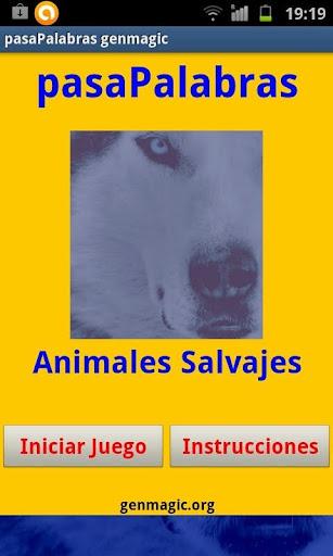 Pasapalabras animales salvajes