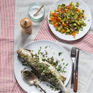 Baked Sea Bass With Fresh Herbs