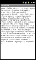 Screenshot of Diccionario Offline