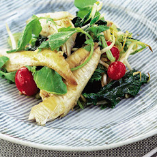 Grilled Mackerel Salad With Miso Dressing
