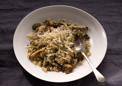 Quinoa Risotto with Mushrooms and Thyme Recipe | Yummly