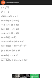 Algebra Formulas - screenshot