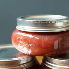 Small Batch Strawberry Rhubarb Jam with Rose Flower Water
