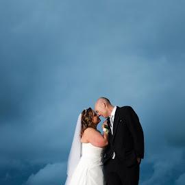 Storm by Brad N Sky Thomson - Wedding Bride & Groom ( #kiss, #love, #bride, #storm, #groom )