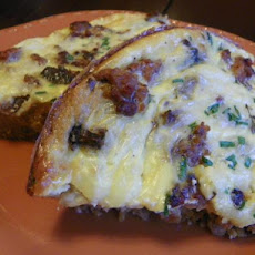 Sausage, Onion and Portabella Mushroom Quiche