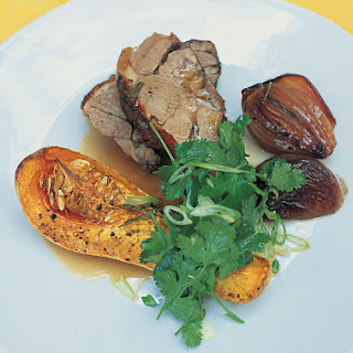 Pot-roasted Shoulder Of Lamb With Roasted Butternut Squash & Sweet Red Onions
