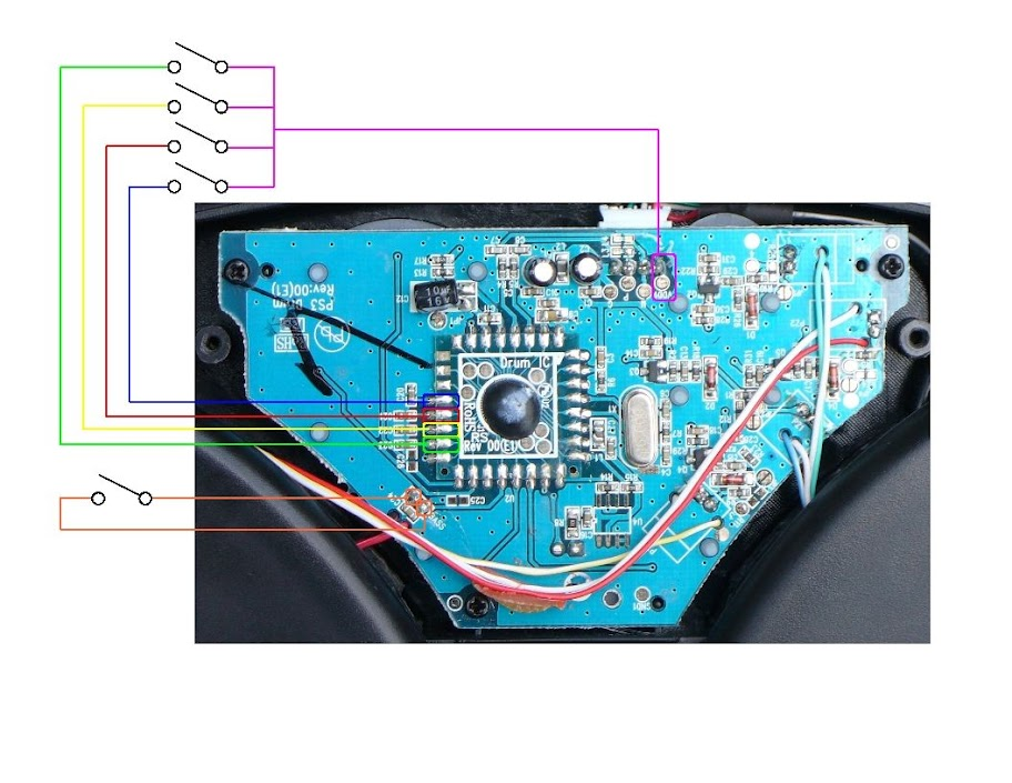 PS3 Users: New Super-Clear RockBand Drum Kit Wiring Diagram Now Up   The  Flash SpeaksThe Flash Speaks - WordPress.com