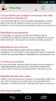 Screenshot of Consejos de Belleza Maquillaje