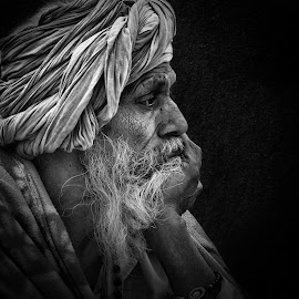 Portrait by Rajib Kumar Bhattacharya - People Portraits of Men