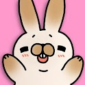 Tickling rabbit icon