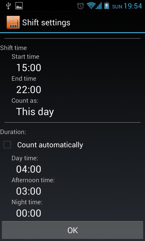 Shift Schedule + Alarm Clock Screenshot 3