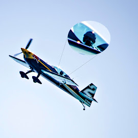 Air Show by Abu Noor Al Khatib - Sports & Fitness Other Sports ( sky, plane, speed, blue, art, pilot, action, yellow, red bull, landscape, fast )