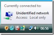 Vista Unidentified Network
