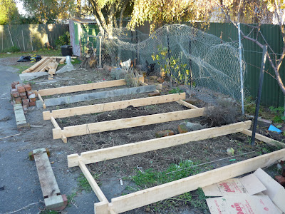 Laying out garden beds