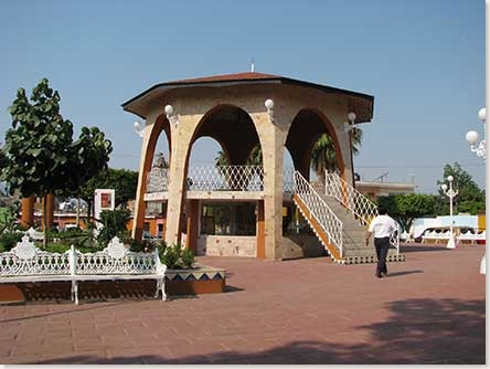 the plaza in San Juan Cosala Jalisco Mexico