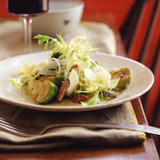 Frisée and Endive Salad with Warm Brussels Sprouts and Toasted Pecans