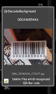 QR background Scanner - screenshot