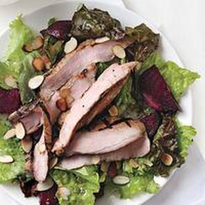 Orange Pork and Roasted Beet Salad