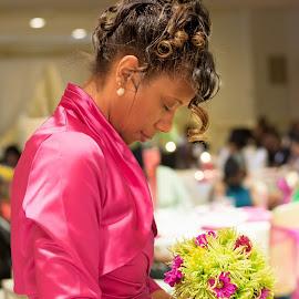 maid of honor... in prayer by Javet Blunt - Wedding Ceremony
