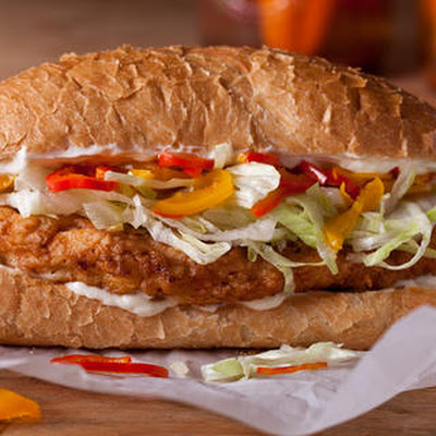 Chicken-Fried Chicken and Pickled Pepper Sandwiches