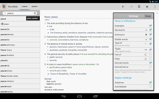 Screenshot of Dictionary - WordWeb