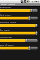 Screenshot of Android Volumer