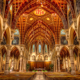Praying in Style by Hamish Carpenter - Buildings & Architecture Places of Worship ( prayer, interior, illinois, church, holy name, cathedral, chicago, architecture, worship, downtown )