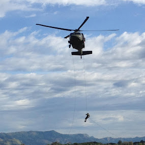 Commando rappel training. by Chuck Holton - Transportation Other
