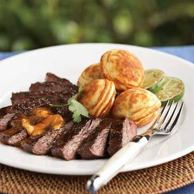 Grilled Skirt Steak with Chili-Lime Butter