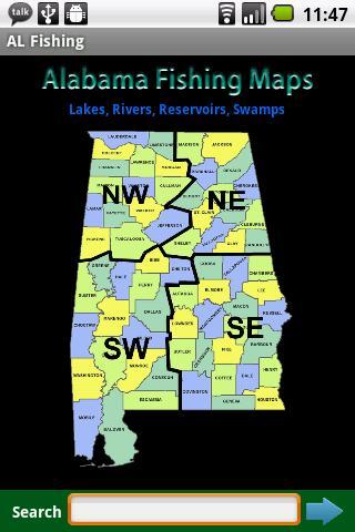 Alabama Fishing Maps - 12 000