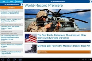 Screenshot of The Heritage Foundation